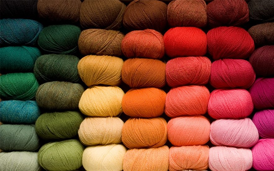 Multiple Colors of Cotton Monk Yarns